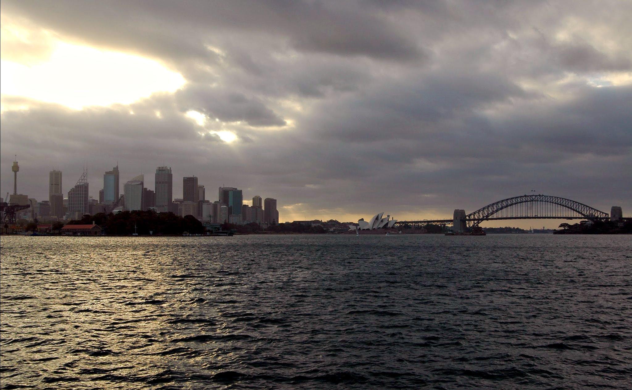 Sydney sous un ciel bas
