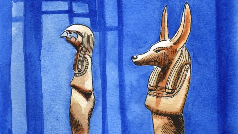 Dessin Horus et Anubis