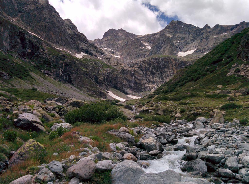 Le glacier de Chanteloube et la pointe de Verdonne